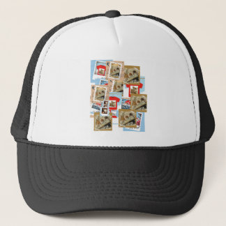 With thought hi top top trucker hat