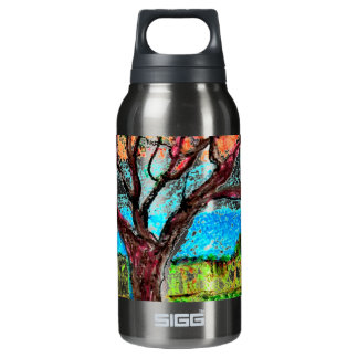 with Tree Art Insulated Water Bottle