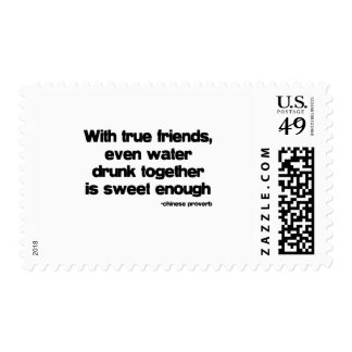 With True Friends quote Stamps