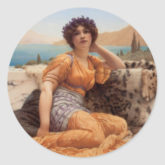 With Violets Wreathed and Robe of Saffron Hue Classic Round Sticker