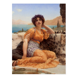 With Violets Wreathed and Robe of Saffron Hue Postcard