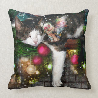 With Visions of Sugar Plums Throw Pillow