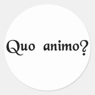 With what spirit? classic round sticker