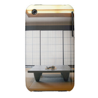 with wooden table and modern style tatami : iPhone 3 Case-Mate case