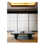 with wooden table and modern style tatami : postcard