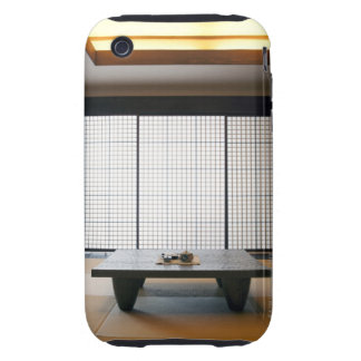 with wooden table and modern style tatami : tough iPhone 3 case