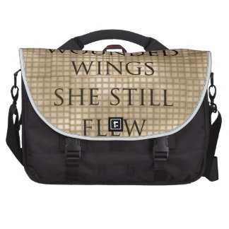 With Wounded Wings She Flew Encouragement Laptop Computer Bag