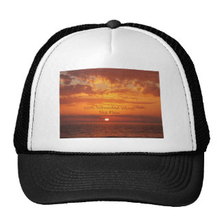 With Wounded Wings She Flew Encouragement Trucker Hat
