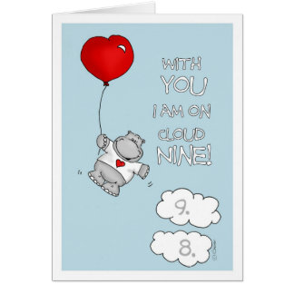 With you I am on cloud nine - Valentine' Day Card