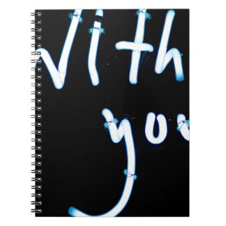 With you light neon sign AT night photograph Roman Notebook