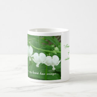 With you my heart has wings... classic white coffee mug