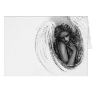 With you now Angel Greeting Card