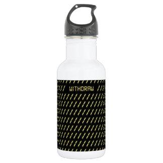 Withdraw print. 18oz water bottle