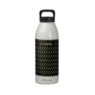 Withdraw print. drinking bottles