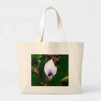 Withe and Purple Calla Lily Tote Bag