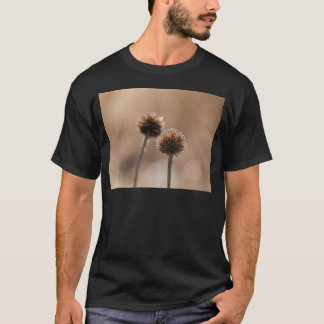 Withered globe thistle in autumn Macro T-Shirt
