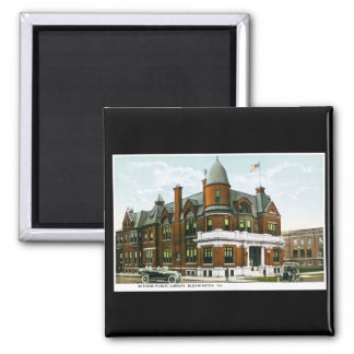 Withers Public Library, Bloomington, Illinois 2 Inch Square Magnet