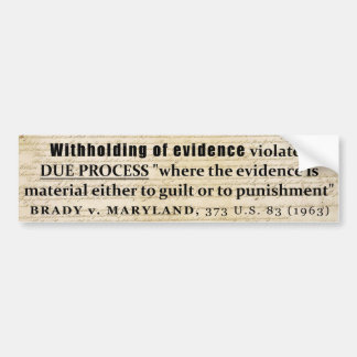 """evidence and the brady rule What is brady evidence brady v maryland, known as """"the brady rule"""" stemmed from a maryland murder case john leo brady was convicted."""