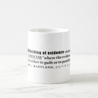Withholding of Evidence Brady v Maryland Case law Coffee Mug