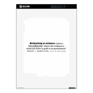 Withholding of Evidence Brady v Maryland Case law Decals For iPad 2