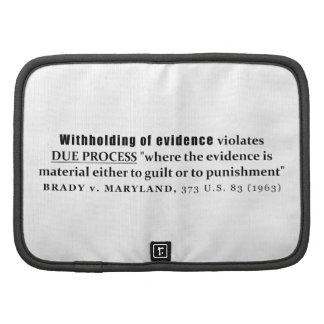 Withholding of Evidence Brady v Maryland Case law Planner