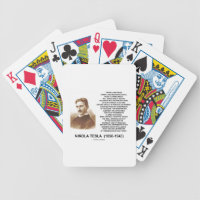 Within A Few Years Simple Inexpensive Device Tesla Bicycle Playing Cards