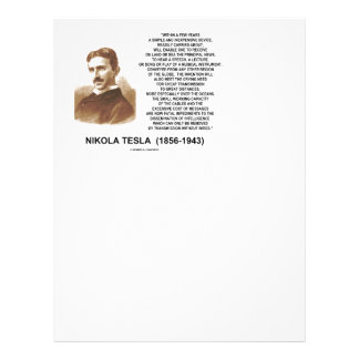 Within A Few Years Simple Inexpensive Device Tesla Letterhead