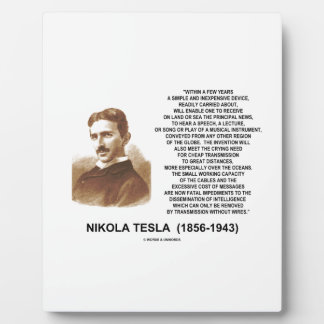 Within A Few Years Simple Inexpensive Device Tesla Plaque