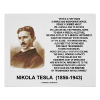 Within A Few Years Simple Inexpensive Device Tesla Poster