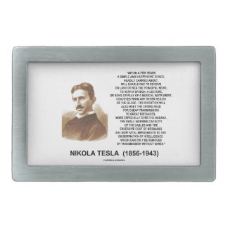 Within A Few Years Simple Inexpensive Device Tesla Rectangular Belt Buckle