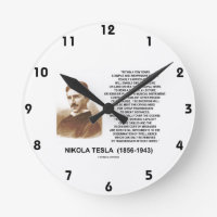 Within A Few Years Simple Inexpensive Device Tesla Round Wall Clock