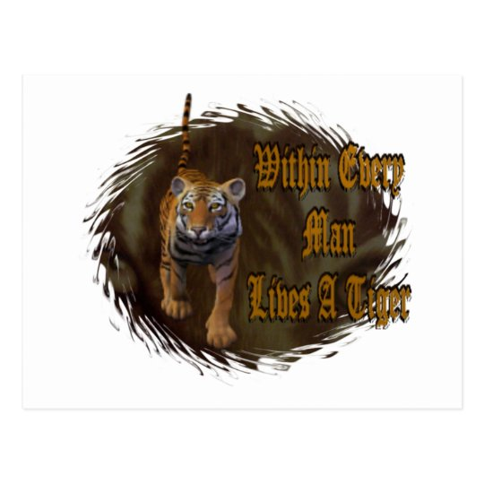 Within Every Man Lives A Tiger Postcard