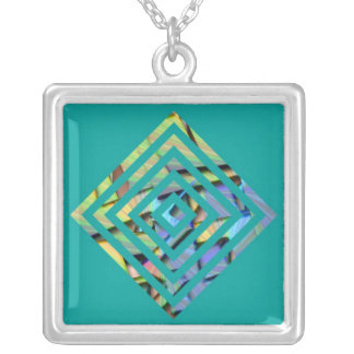 Within imagination square pendant necklace