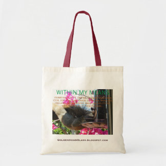 """""""Within My Means"""" BlogBag Tote Bag"""