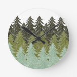 WITHIN THE FOREST ROUND WALLCLOCKS