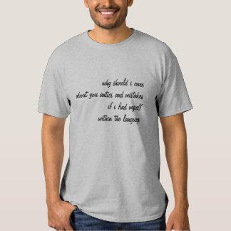 within the language t-shirts
