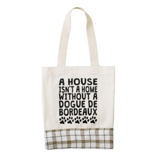 Without A Dogue de Bordeaux Zazzle HEART Tote Bag