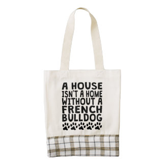 Without A French Bulldog Zazzle HEART Tote Bag