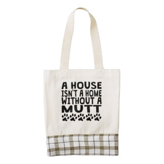 Without A Mutt Zazzle HEART Tote Bag