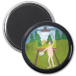 Without  A Stitch  Little Nudist Painter Magnet