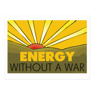 Without A War Solar Postcard