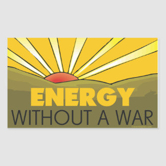 Without A War Solar Rectangular Sticker