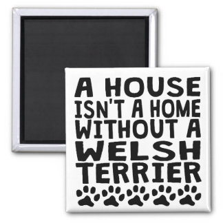 Without A Welsh Terrier 2 Inch Square Magnet