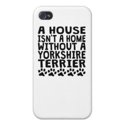 Case Savvy iPhone 4 Matte Finish Case with Yorkshire Terrier Phone Cases design