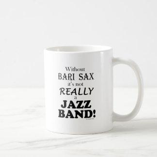 Without Bari Sax - Jazz Band Classic White Coffee Mug