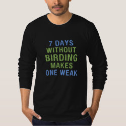 Men's American Apparel Fine Jersey Long Sleeve T-Shirt with Without Birding One Weak design