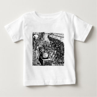 """""""Without Bread, Land, or Money, the Laborer Flees T-shirts"""