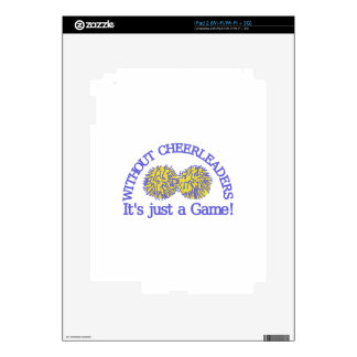 Without Cheerleaders iPad 2 Decal