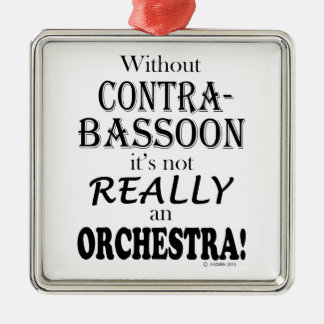 Without Contrabassoon - Orchestra Metal Ornament