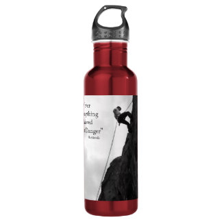 Without Danger Red Rock Climbing 24oz Water Bottle